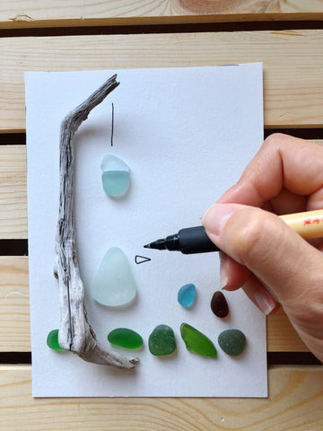 Havenside Designs Nova Scotia Sea Glass DIY Art Kit Tutorial