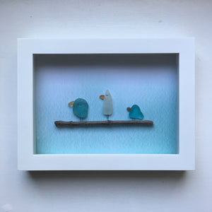 Framed Seaglass Art