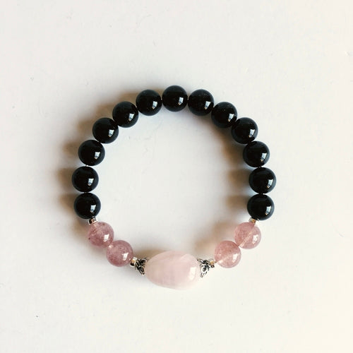 Grounding Love Bracelet - Rose Quartz