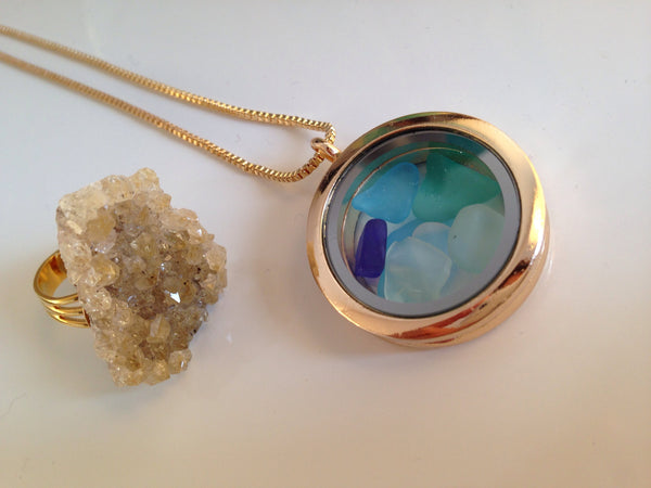 Sea Foam - Seaglass Necklace