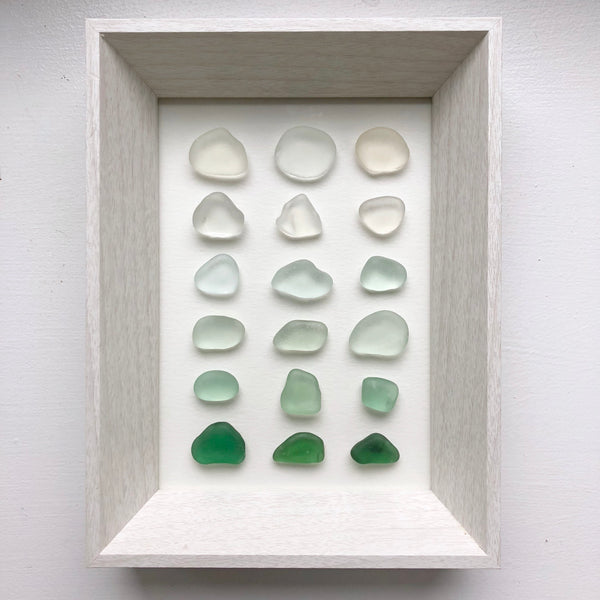 5x7 Pastel Seaglass Ombré Gradient Framed Art