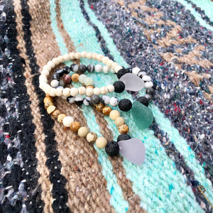 Sea Glass Essential Oil Bracelet