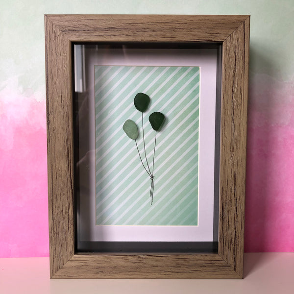 Balloon Framed Seaglass Art