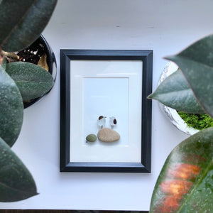 5x7 Seaham Sea Birds Framed Seaglass Art