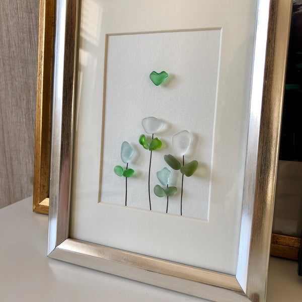 Spring Tulips - 5x7 Floral Seaglass Art
