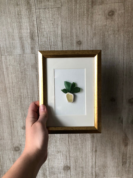 Pineapples & Palms Seaglass Art
