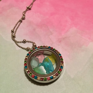 Seaglass Locket Necklace