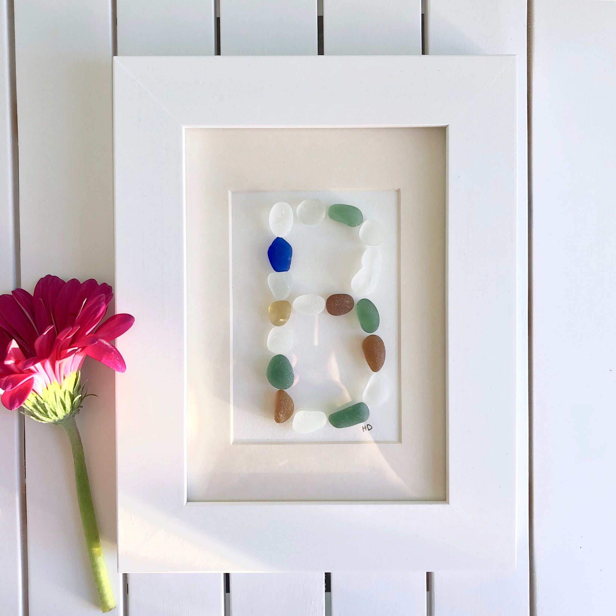 Beach Letter - Seaglass Art