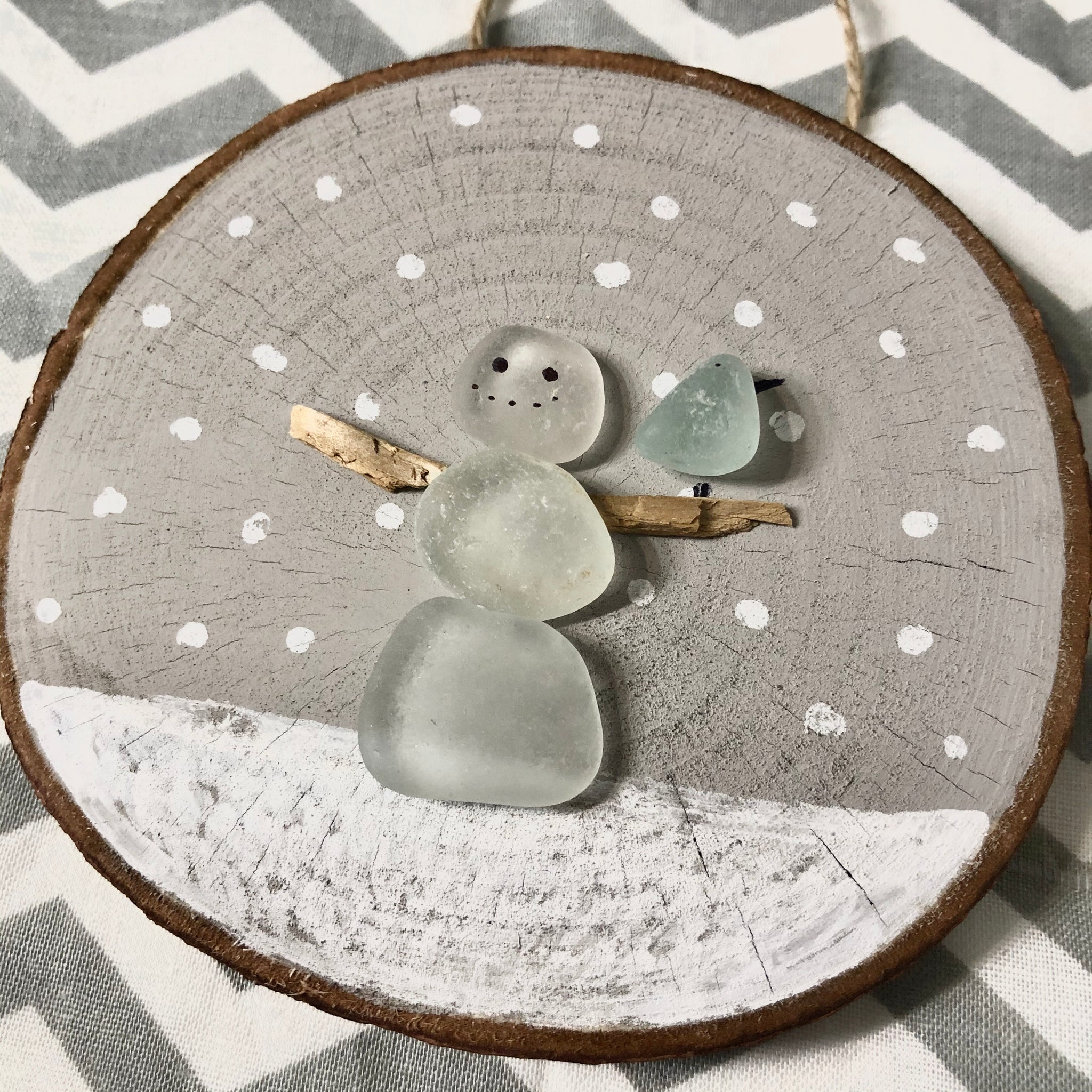 Holiday Sea Glass & Shell Ornaments