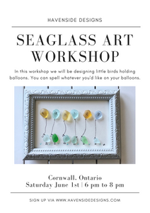 Birds & Balloons - Seaglass Art Workshop