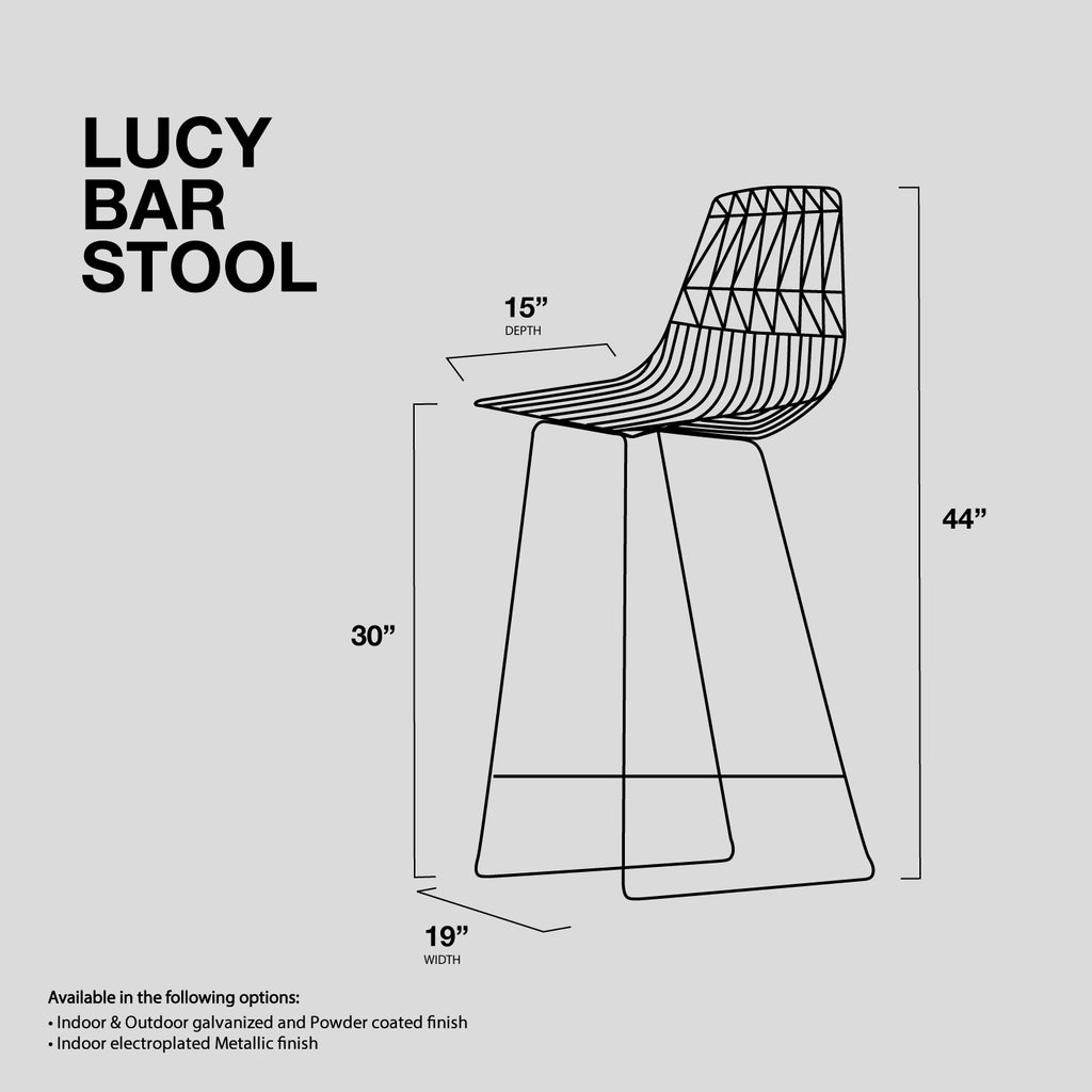 Lucy Wire Stool Bar Height Bend Goods Bend Store