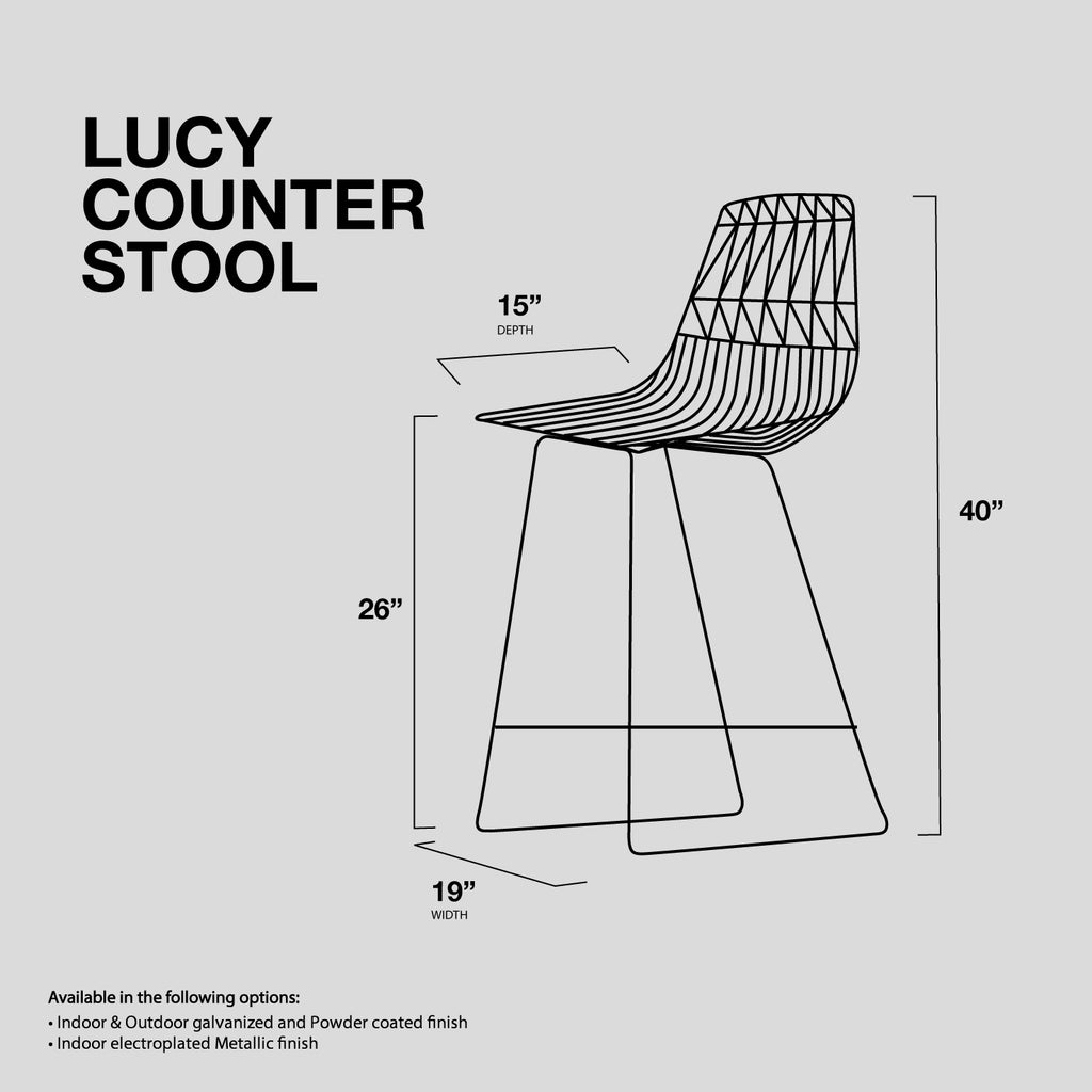 Fabulous Lucy Counter Wire Stool Bend Goods Bend Store Bralicious Painted Fabric Chair Ideas Braliciousco