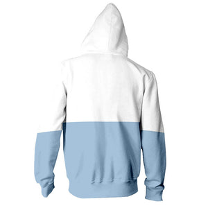 Unisex Peek-A-Boo Bi Color Cat Hoodie