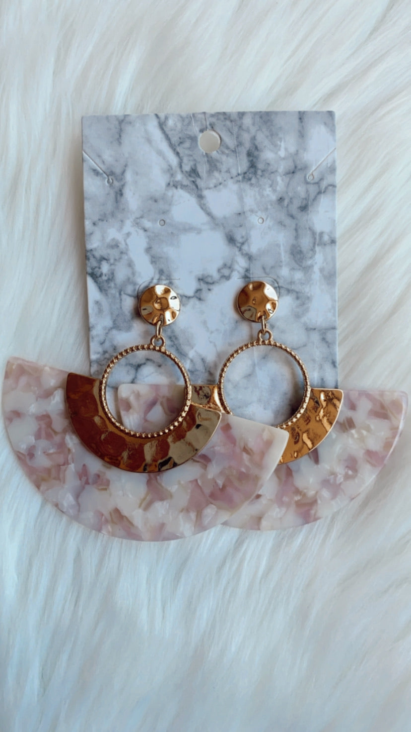 crushed crescent earrings