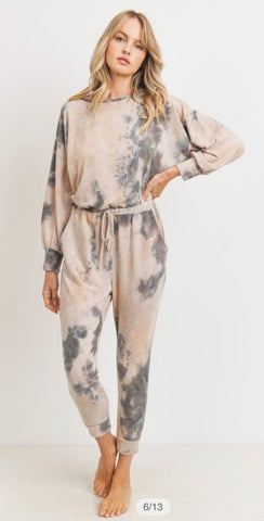 All In One Tie Dye Jumpsuit