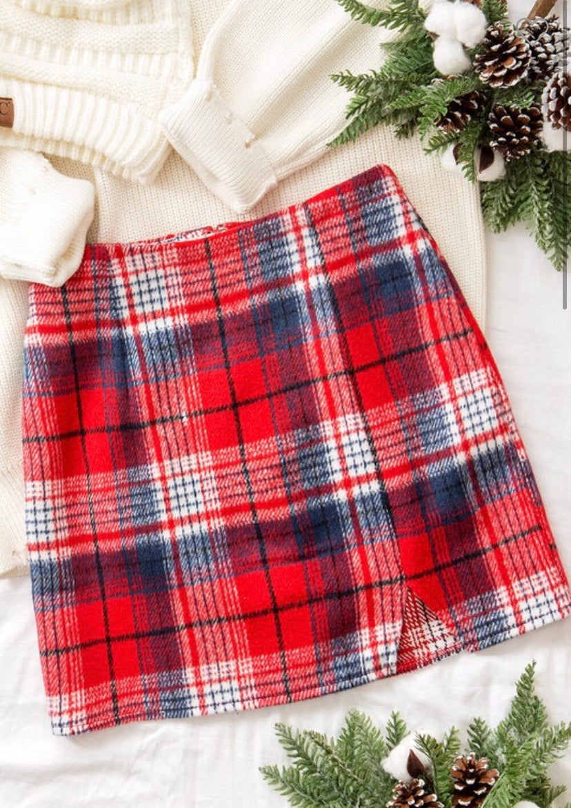 Plaid About You Skirt