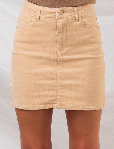 Taupe Cordoroy mini skirt