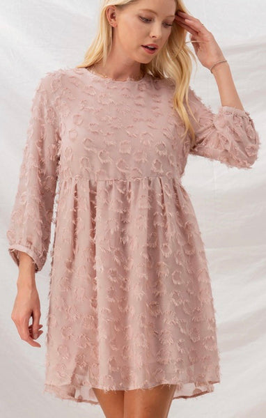 Frayed Circle Babydoll Dress