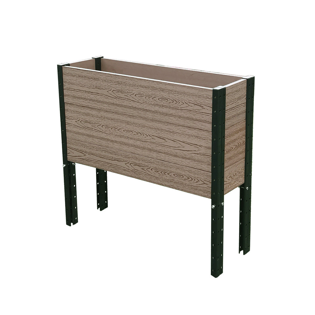 "E333612   36""  W x 12""  D x 33"" H Elevated Deep Trough Planter / Elevated Garden Bed"