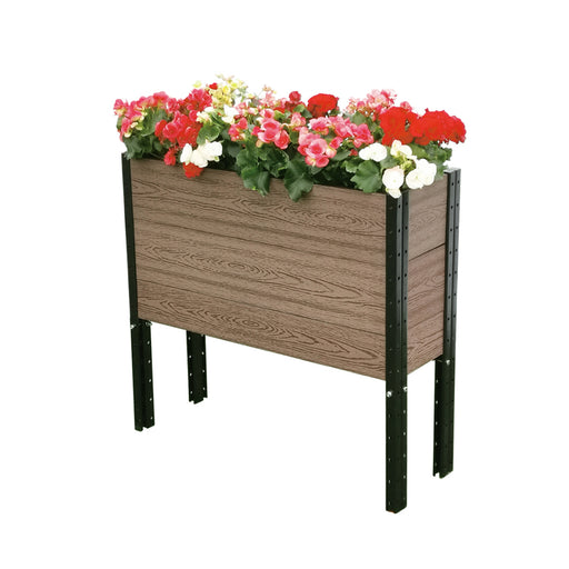 36 in. (W) x 12 in. (D) x 33 in. (H) Elevated Deep Trough Planter