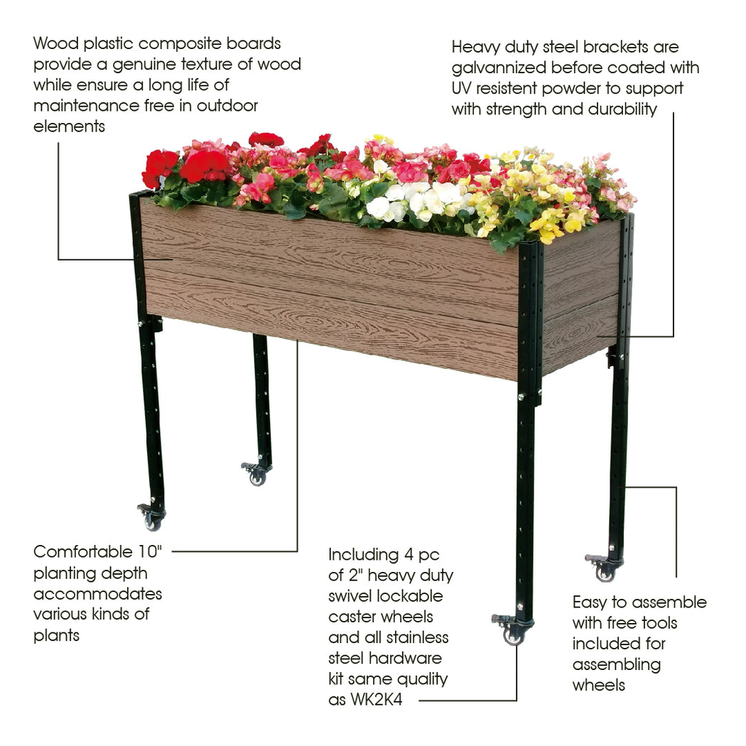 45 in. (W) x 18 in. (D) x 36 in. (H) Urban Mobile Garden