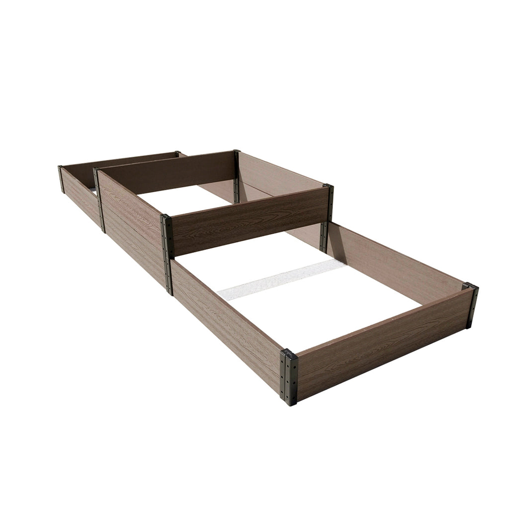 "K2124 108"" L x 38"" W x 07/14"" H Terraced Triple Garden Bed A (Lo-Hi-Lo)"