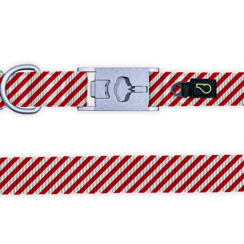 Peppermint Stripes Dog Collar