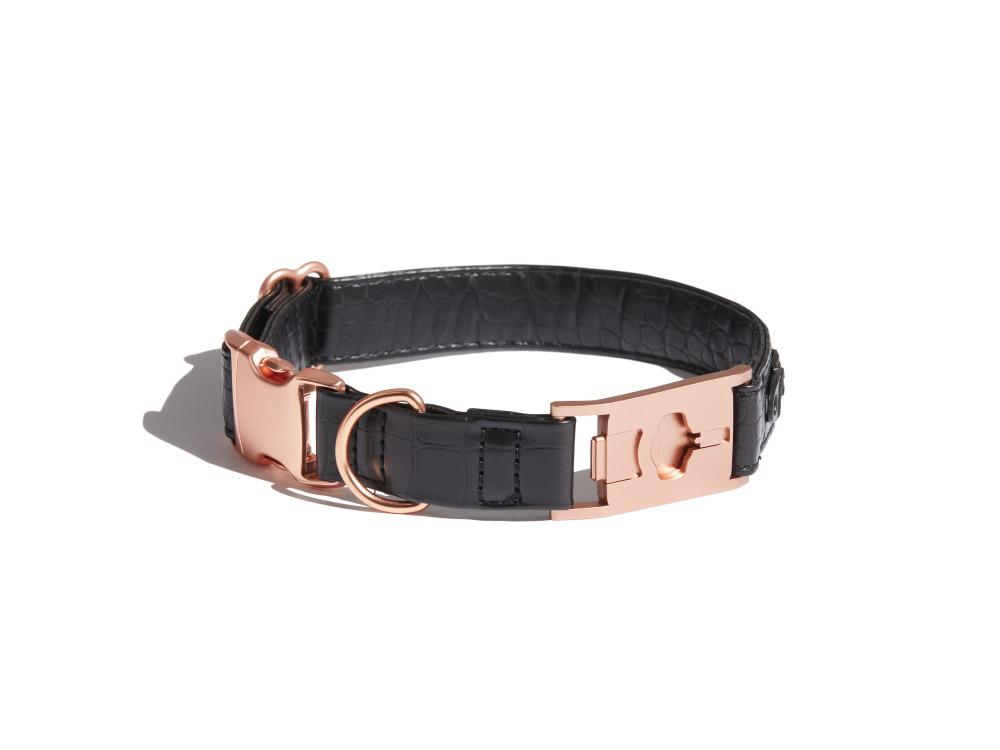 Later-Gator Faux Leather Dog Collar