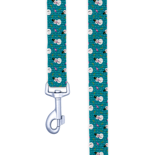 Chasing Snowmen Dog Leash