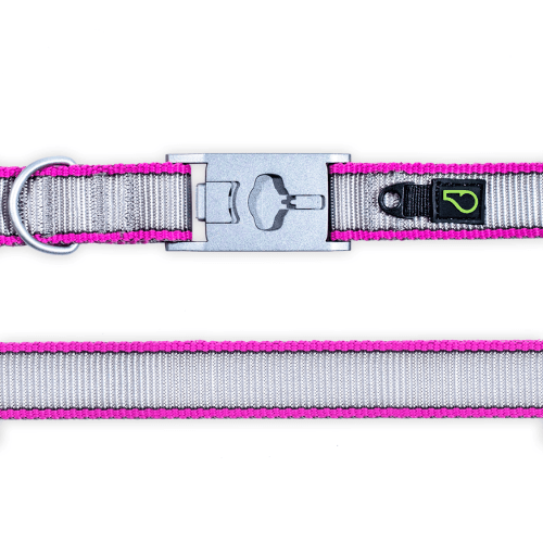 See-Me Magenta (Reflective) Dog Collar