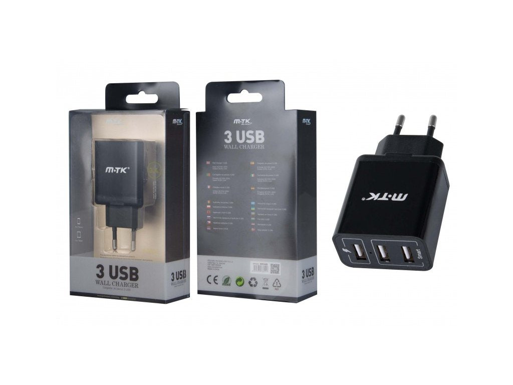 M.TK USB 3 USB Wall Charger