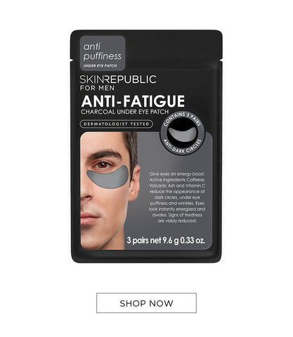 Anti-Fatigue Charcoal Under Eye Patch for Men Online - Skin Republic