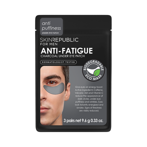 Skin Republic Anti-Fatigue Charcoal Under Eye Patch for Men (3 Applications)