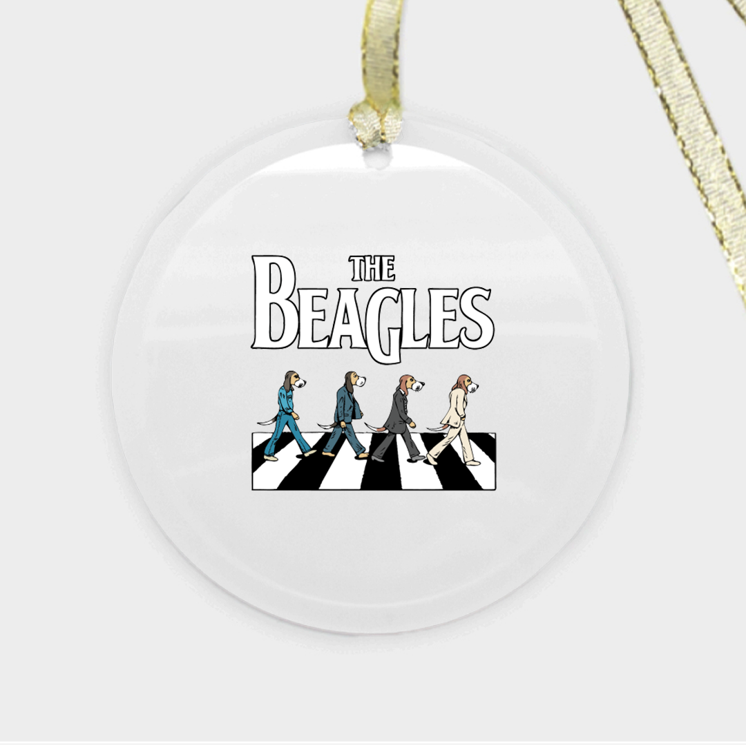 The Beagles Ornament - Glass (Round)
