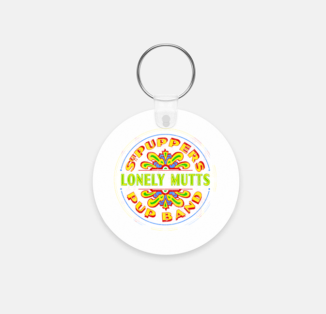 Puppers Pup Band Key Chain (Round)