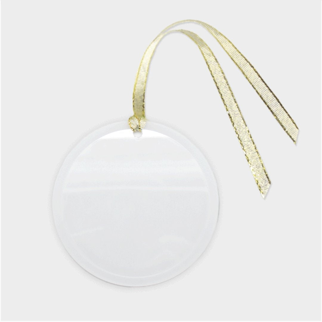 Def Shepherd Ornament - Glass (Round)