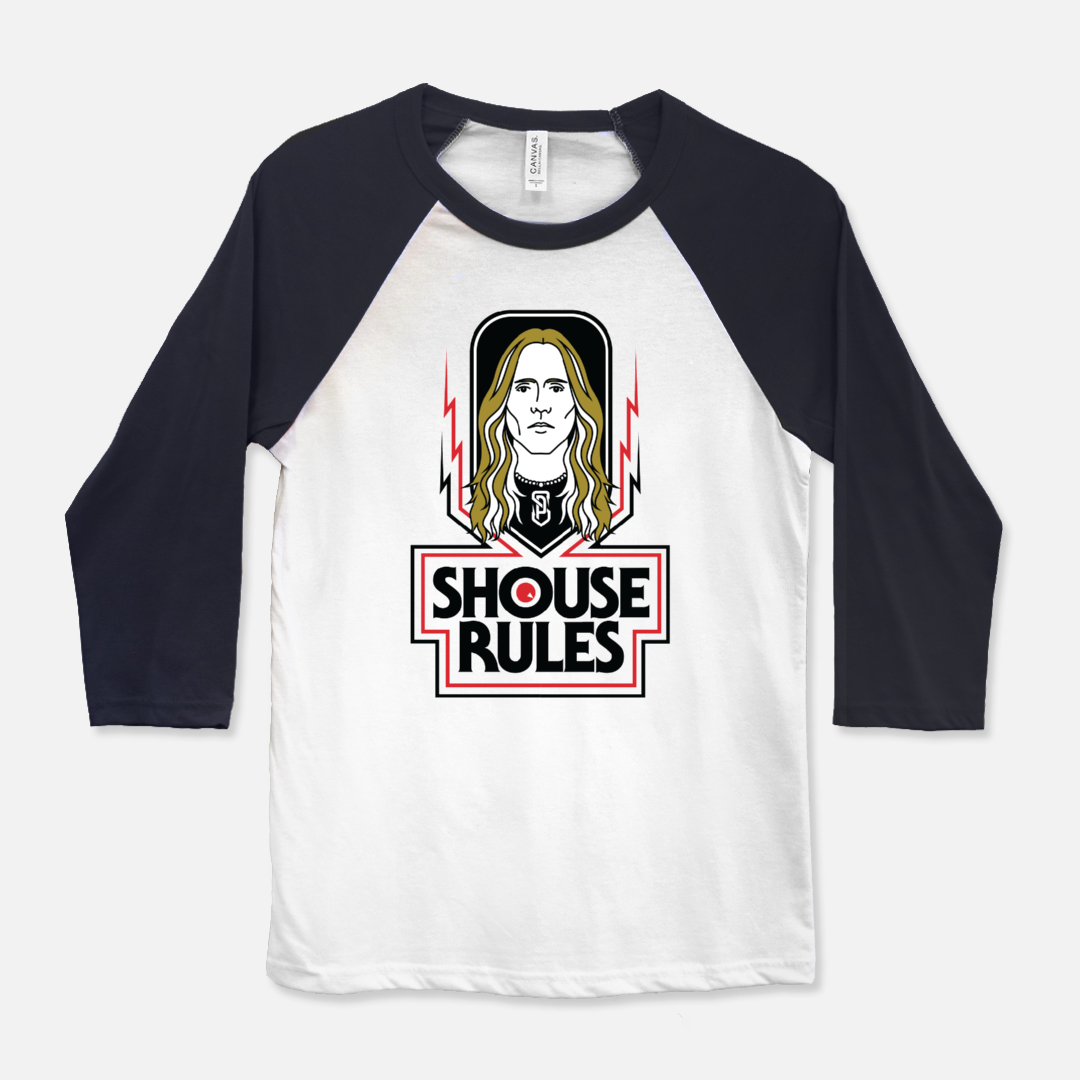 Shouse Rules Bella Canvas Unisex Baseball T-Shirt