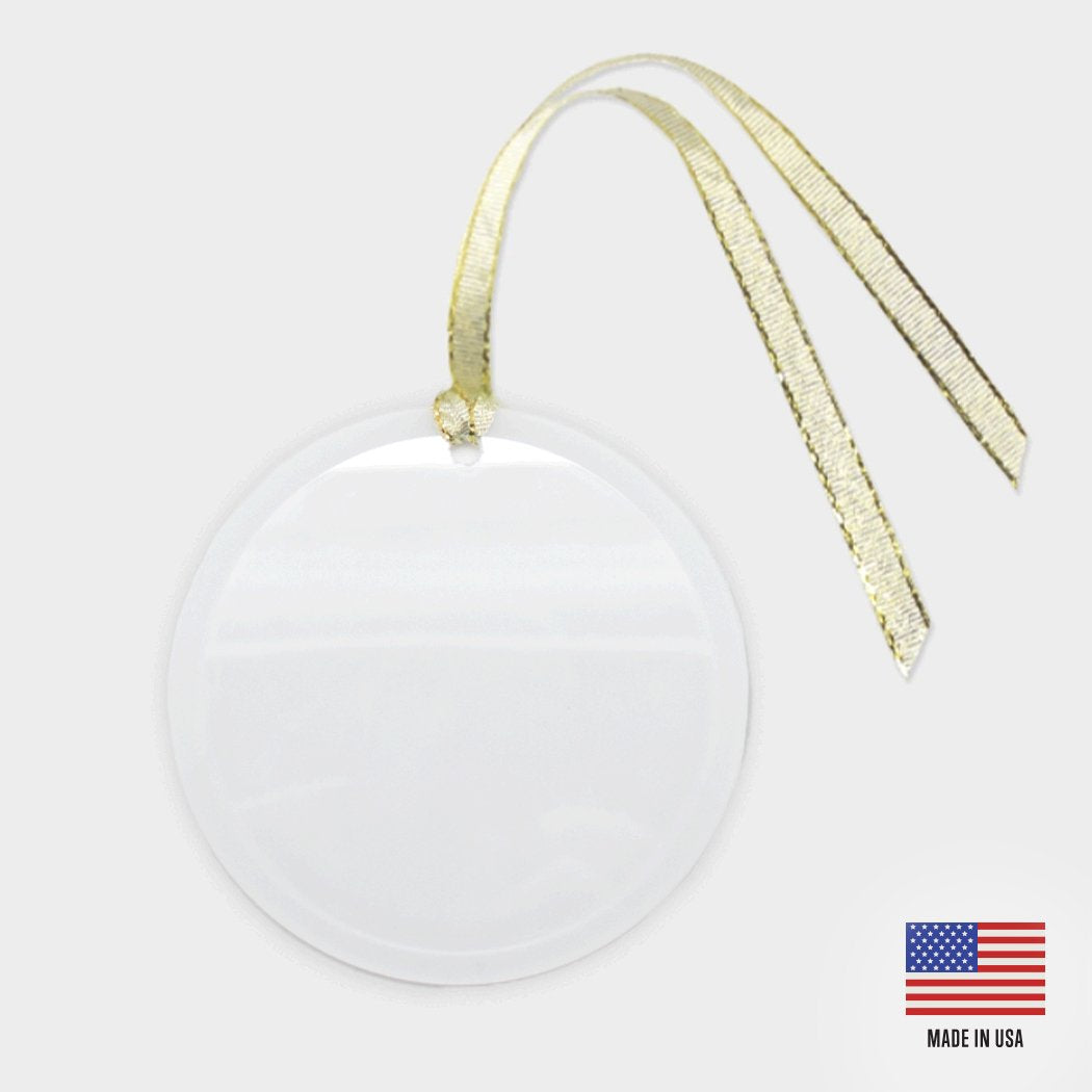 Mutt Merch Ornament - Glass (Round)