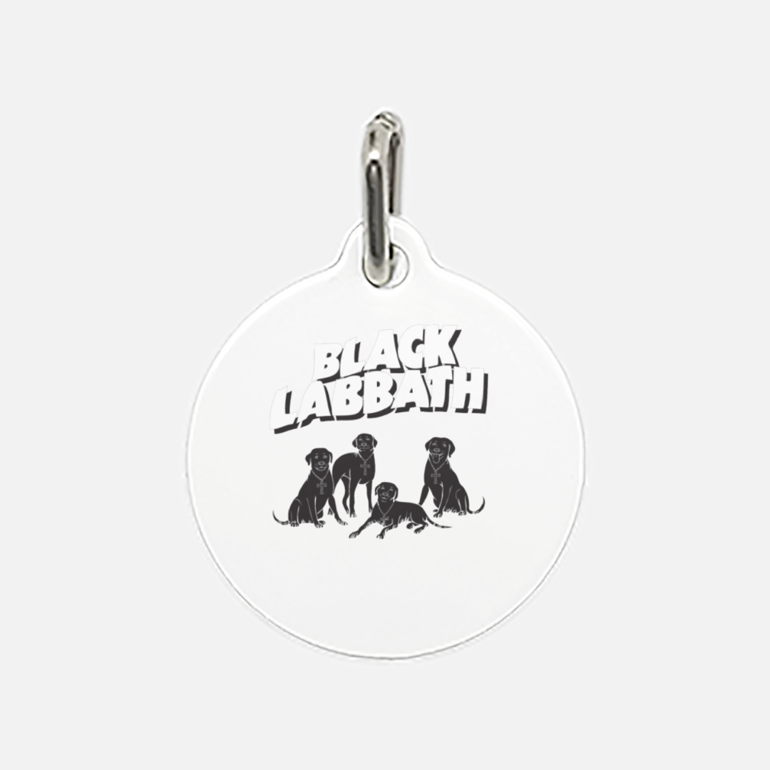 Black Labbath Pet Tag