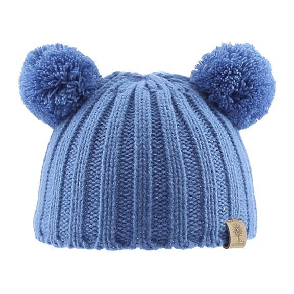 Bedford Knit Beanie withPoms