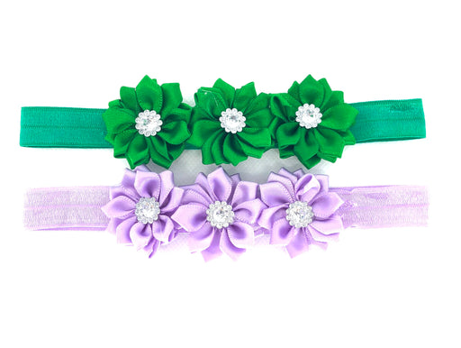 2pk Satin Triple Flower Satin HB Set