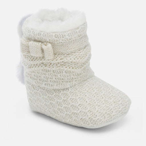 Mayoral White Knit Booties