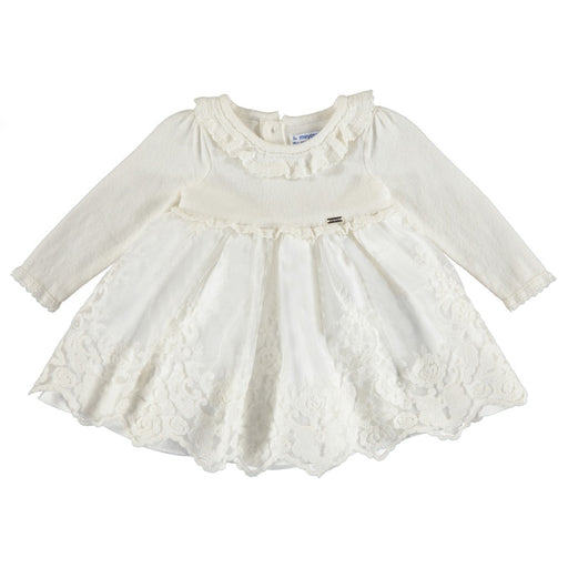 Mayoral Baby Tricot/Tulle Natural Dress