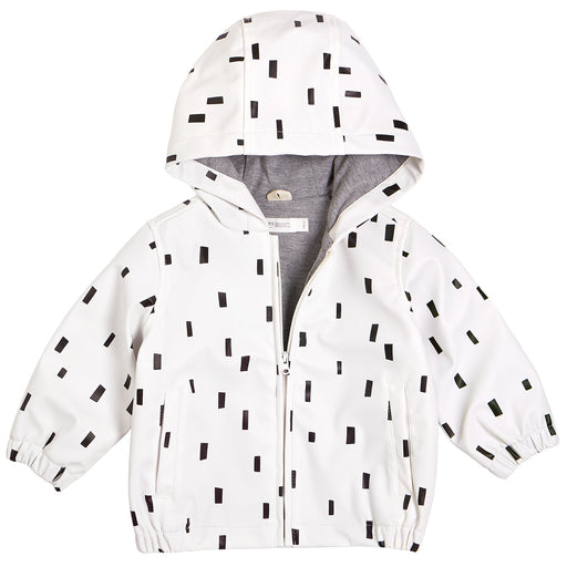 Miles Baby T Off White Hooded Raincoat Woven