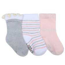 Robeez 3 pk Stripes Dots Sock