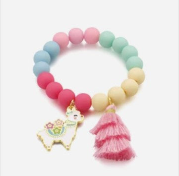 Girl Nation Charming Whimsy Glama Llama Bracelet