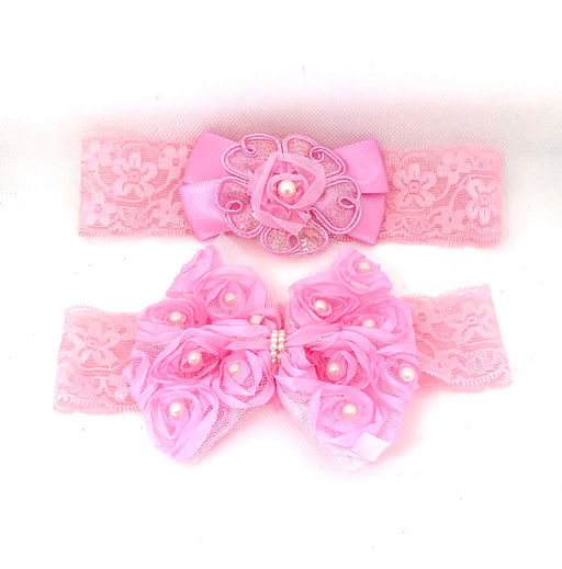 Wide Pink Lace Headband