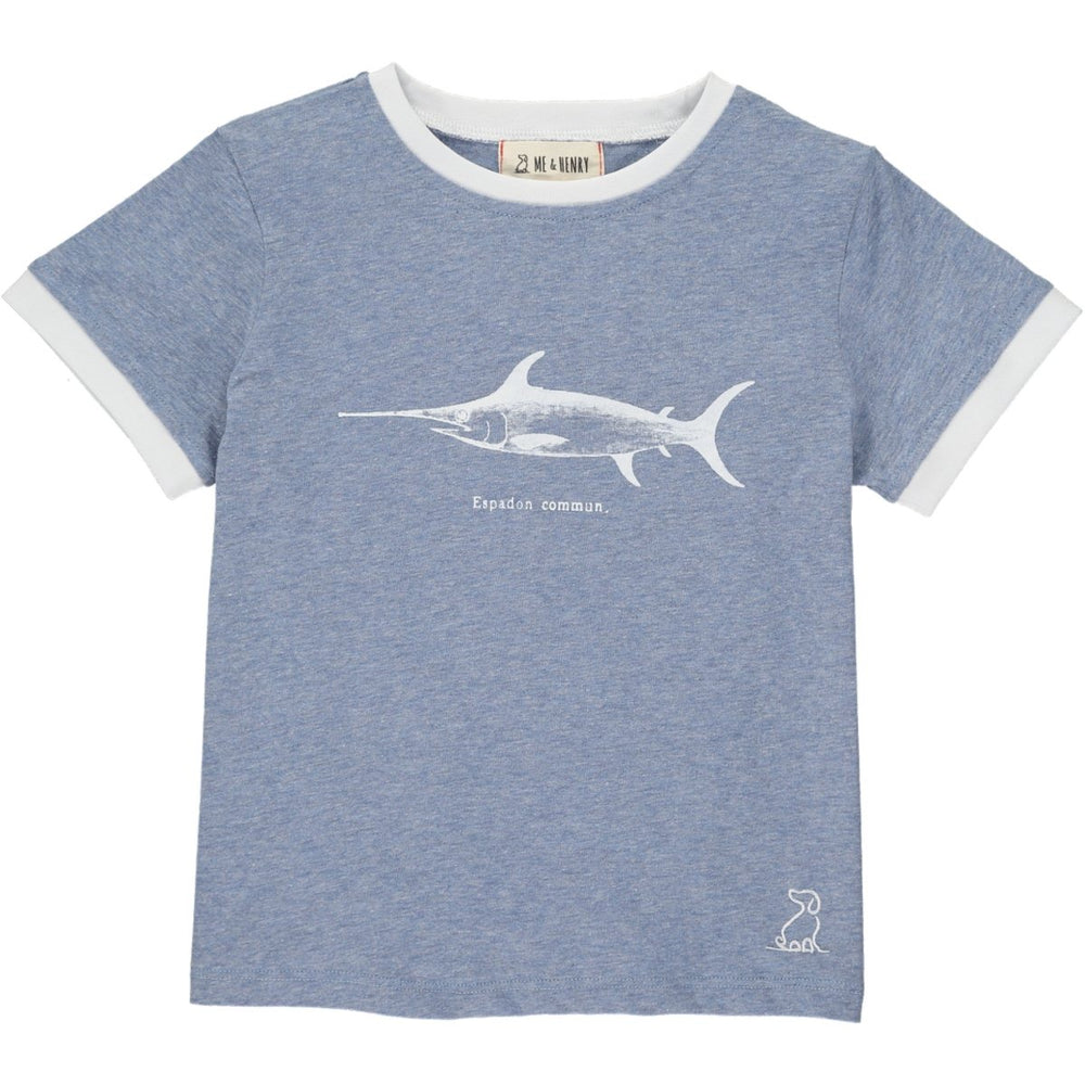 Me & Henry Toddler Blue Fish Tee