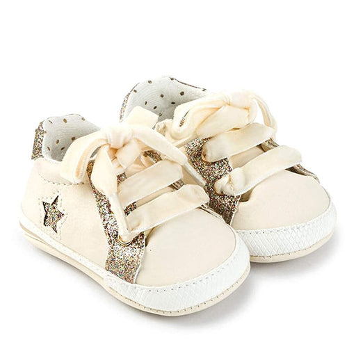 Mayoral Sparkle and Cream Baby Sneakers