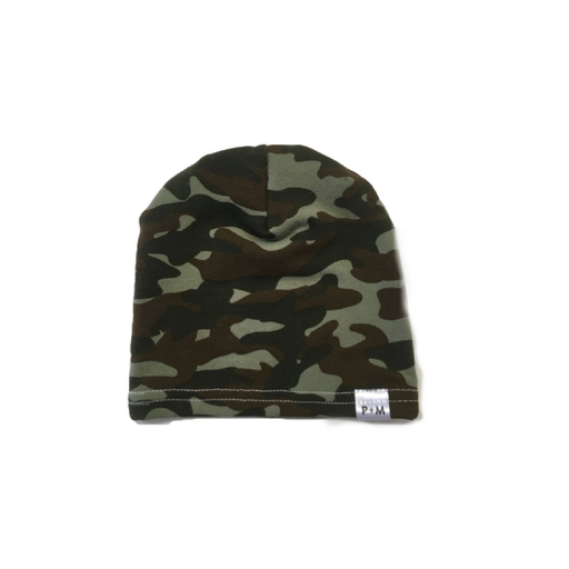 Portage and Main Green Camo Beanie